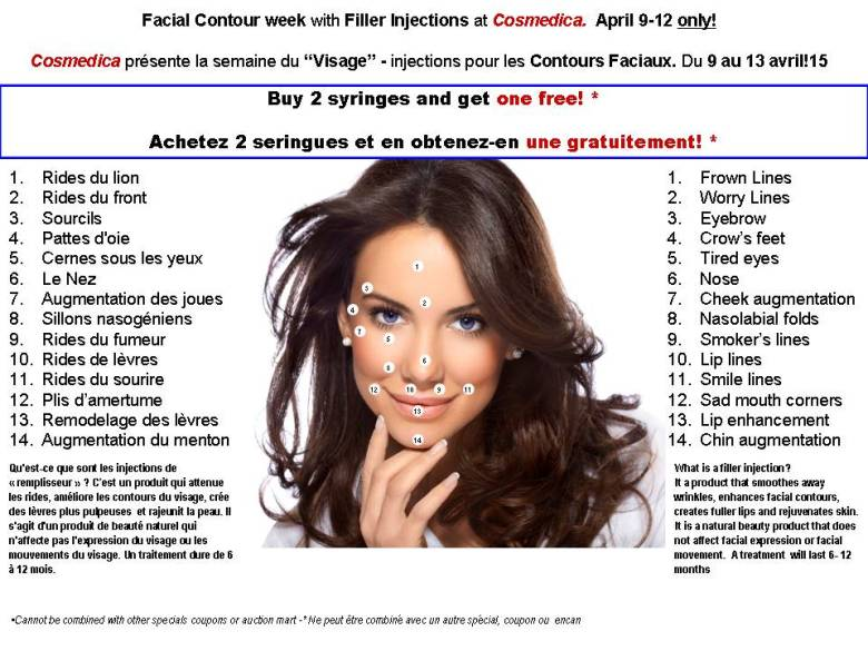 FACIAL CONTOUR WEEK APRIL 9TH - BUY 2 SYRINGES AND GET THE 3RD FREE
