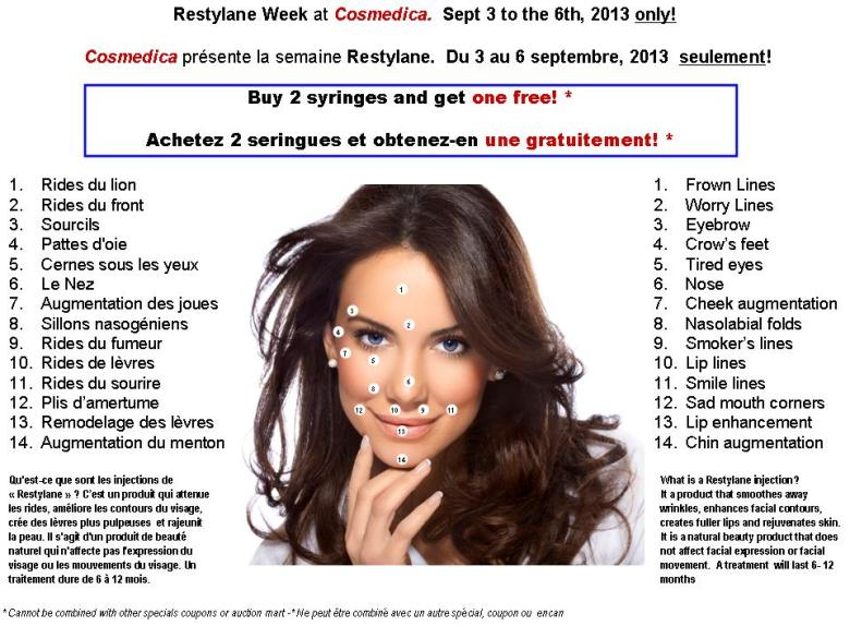 Restylane Week flyer - 2013