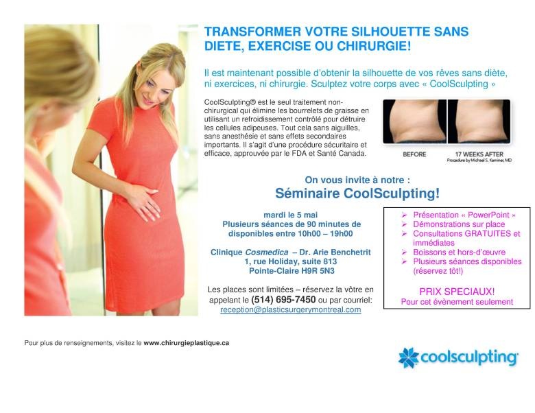 Poster - Coolsculpting seminar May 2015 French