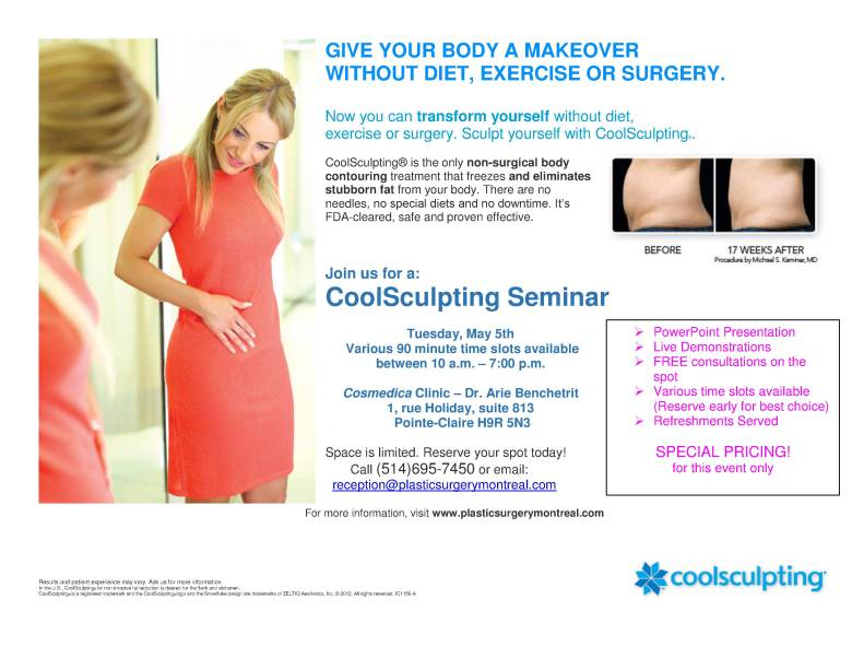 Poster - Coolsculpting seminar May 2015