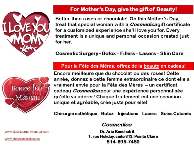 Mother's Day gift certificate ad - 2016